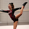 HADLEY GREEN/Staff photo<br /> Gloucester's Matina Billante flies high during Gloucester's routine at the Massachusetts State Cheerleading Tournament at Worcester State University.<br /> <br /> 11/19/17