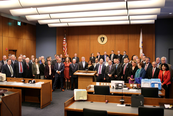 "HADLEY GREEN/Staff photo<br /> Massachusetts attorney, lawyers, and Massachusetts Bar Association members attend the ""This Is Your Court"" event at the Salem Superior Court. 11/08/17"