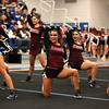 HADLEY GREEN/Staff photo<br /> Gloucester cheerleaders compete at the Massachusetts State Cheerleading Tournament at Worcester State University.<br /> <br /> 11/19/17