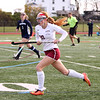 HADLEY GREEN/Staff photo<br /> Gloucester's Tracy Wood (20) sprints down the field at the Gloucester v. Wilmington Division 2 North quarterfinals field hockey game at Gloucester High School.<br /> <br /> 11/04/17