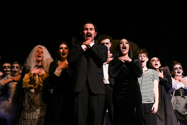 """Dress rehearsals for """"Addams Family"""" at Danvers High"""