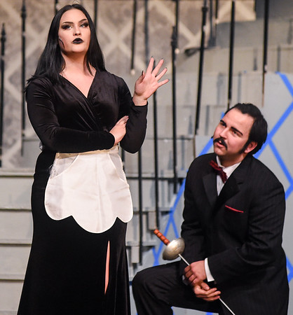 "Dress rehearsals for ""Addams Family"" at Danvers High"