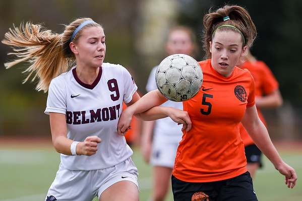 Beverly High girls soccer vs. Belmont in Division 2 North playoffs