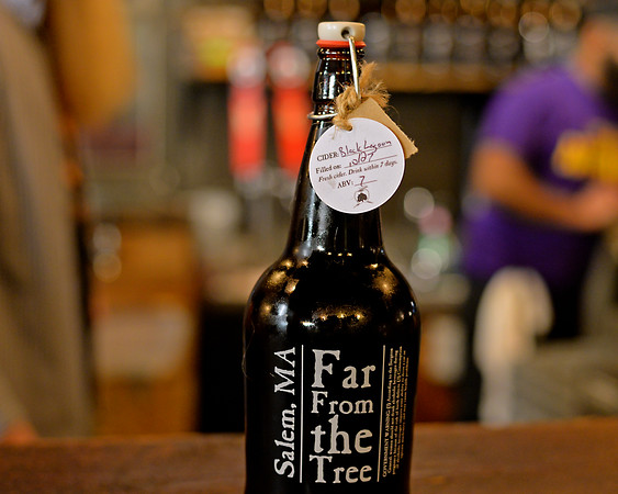 RYAN HUTTON/ Staff photo<br /> Black Lagoon, Far From The Tree's newest hard cider is a 7 percent ABV cider which is a black cherry, black currant, black mulberry, black cuddlefish ink and cardamom cider.