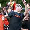 Beverly band member Darin LaPierre feels the music iduring the Beverly vs. Danvers football game Saturday, October 15, at Hurd Stadium. Photo by Nicole Goodhue Boyd