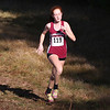 HADLEY GREEN/Staff photo<br /> Gloucester's Christina Jones came in third for girls varsity at the Northeastern Conference Cross Country championships at Bradley Palmer State Park.<br /> <br /> 10/28/17
