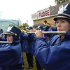 TIM JEAN/Staff photo<br /> Meghan Miraglia, right, and Caitlyn Pellerin of Danvers High School Marching Band perform the National Anthem during opening ceremonies of the Topsfield Fair. 9/30/17