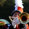 HADLEY GREEN/Staff photo<br /> The Beverly High School marching band performs during halftime at the Beverly v. Danvers football game at the Hurd Stadium in Beverly. 10/14/17