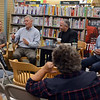 "RYAN HUTTON/ Staff photo<br /> Nancy and John Frates, left, are joined by authors Casey Sherman and Dave Wedge, right, in speaking with people at a book signing at the Peabody Barnes & Nobel for the Sherman's and Wedge's new book ""Ice Bucket Challenge: Pete Frates and the Fight Against ALS"" - the story of nancy and John's son Pete."