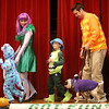 "HADLEY GREEN/Staff photo<br /> From left, Austin, Jennifer, Aiden, Brady, and Bob Pavenski of Middleton dressed up as ""Monsters Inc."" for the Nightmare on Main Street costume contest at the Knights of Columbus in Peabody. <br /> 10/25/17"