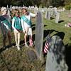Girl Scouts restore cemetery