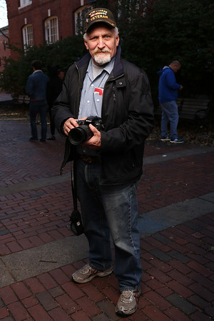 HADLEY GREEN/Staff photo<br /> Mike Sirois of Lowell came to Salem on Halloween to see the festivities. <br /> 10/31/17