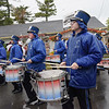 TIM JEAN/Staff photo<br /> Members of Danvers High School Marching Band perform as they walk thru the fair grounds during the Grand Parade and opening ceremonies of the Topsfield Fair. 9/30/17