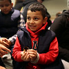 HADLEY GREEN/ Staff photo<br /> Jahaziel Galeano, 5, of Chelsea, holds a newborn chick in the poultry barn at the Topsfield Fair. <br /> <br /> 10/08/2018