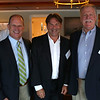 HADLEY GREEN/ Staff photo<br /> Person of the Year recipient Jack Attridge of William Raveis Real Estate, Frank Wheeler Community Service Award recipient Brian Wheeler and Business of the Year winner Chip Percy of Three Cod Tavern attend the Marblehead Chamber of Commerce annual meeting and community awards at the Corinthian Yacht Club in Marblehead.<br /> <br /> 09/21/2018