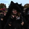 HADLEY GREEN/ Staff photo<br /> Participants of the Salem Witches' Magic Circle pray during the ceremony to celebrate those who have passed on Halloween night in Salem.<br /> <br /> 10/30/2018