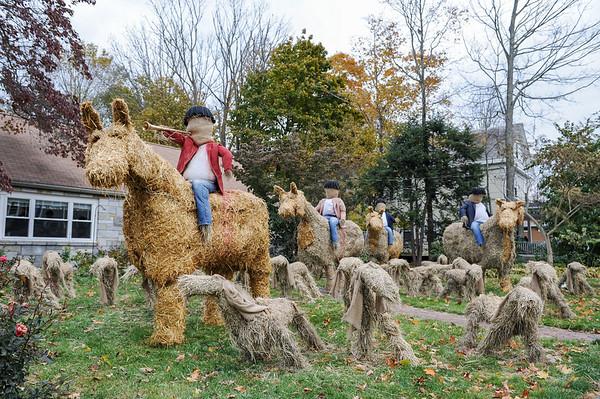 Hay Sculptures in Hamilton