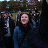 HADLEY GREEN/ Staff photo<br /> Valkyrie Jacobson-Smith of San Francisco, center, dances during the Salem Witches' Magic Circle on Salem Common on Halloween night.<br /> <br /> 10/30/2018