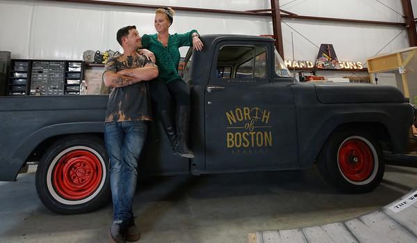 GEORGE LEVINES/Staff photo.  Jason Rodricks and        of North of Boston Studios.     9/29/14    9/29/14
