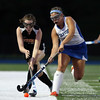 DAVID LE/Staff photo. Beverly's Julie McMahon, left, steals the ball from Danvers' Molly Thibodeau during the first half of play. 9/13/16.