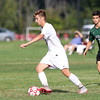 DAVID LE/Staff photo. Masco senior captain Jack Connors turns upfield with the ball against Pentucket. 9/20/16.