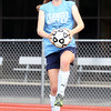 DAVID LE/Staff photo. Peabody Girls Soccer senior captain Katherine Scacchi is known for her long throw ins. 9/1/16.