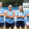 DAVID LE/Staff photo. Peabody Girls Soccer captains for the 2016 season are senior Katherine Scacchi, senior Chloe Gizzi, junior Emily Nelson, and senior Molly Tansey. 9/1/16.