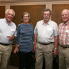 AMY SWEENEY/Staff photo.<br /> Lincoln Williams, trustee at the Beverly Historical Society, Jane Williams, Ed McFadden and John Thomson at the opening of a new exhibit by the Beverly Historical Society at the John Cabot House in Beverly.