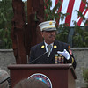 Photo/Reba Saldanha NYFD retired chief of special operations Fred LaFemina speaks during the dedication of a 9/11 memorial at Beverly Municipal Airport Sunday Sept 11, 2016.