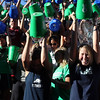 DAVID LE/Staff photo. Over a thousand people, mostly made up of Endicott College students and faculty, participated in the largest Ice Bucket Challenge on the North Shore following the dedication of Peter Frates Hall. 9/13/16.
