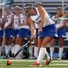 DAVID LE/Staff photo. Danvers midfielder Molly Thibodeau plays the ball upfield against Beverly. 9/13/16.