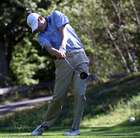DAVID LE/Staff photo. St. John's Prep junior golfer Shamus Lombard. 9/2/16.