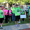 HADLEY GREEN/Staff photo<br /> People stretch before running and walking the 16th annual International Race for Research to benefit the Progeria Research Foundation.<br /> 09/09/17