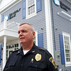 HADLEY GREEN/Staff photo<br /> Danvers Police Chief Patrick M. Ambrose speaks about Wednesday's robbery at Beverly Bank in Danvers.<br /> <br /> 09/06/17
