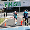 HADLEY GREEN/Staff photo<br /> Katrina Vassallo crosses the finish line at the 16th annual International Race for Research to benefit the Progeria Research Foundation.<br /> 09/09/17
