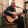 HADLEY GREEN/Staff photo<br /> Edward Meagher of Salem plays guitar at the Open Mic hosted by the Danvers Historical Society at Tapley Memorial Hall.<br /> 09/20/17