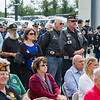 AMANDA SABGA/Staff photo <br /> <br /> People listen during the Essex County Sheriff's Department National POW/MIA Recognition Day Ceremony at the sheriff's department in Middleton.<br /> <br /> 9/21/18