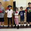 HADLEY GREEN/ Staff photo<br /> Young readers walk the plank at the Peabody Institute Library's Talk Like A Pirate Day event. <br /> <br /> 09/19/2018