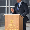 AMANDA SABGA/Staff photo <br /> <br /> Massachusetts Secretary of Veterans' Services Francisco Urena speaks during the Essex County Sheriff's Department National POW/MIA Recognition Day Ceremony at the sheriff's department in Middleton.<br /> <br /> 9/21/18
