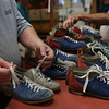 HADLEY GREEN/ Staff photo<br /> People sort through bowling shoes at the liquidation sale at Bowl-O-Mat in Beverly.<br /> <br /> 09/26/2018