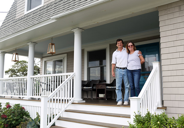 HADLEY GREEN/ Staff photo<br /> Beth and Chris Roenker own and operate the Seafarer Inn on Marion Way in Rockport. <br /> <br /> 09/21/2018