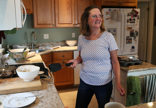 HADLEY GREEN/ Staff photo<br /> Beth Roenker makes pancakes as part of the daily breakfast served to guests at the Seafarer Inn.<br /> <br /> 09/21/2018