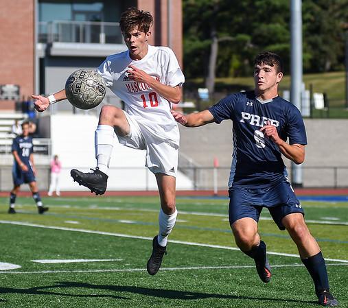 Masconomet at St. John's Prep boys varsity soccer