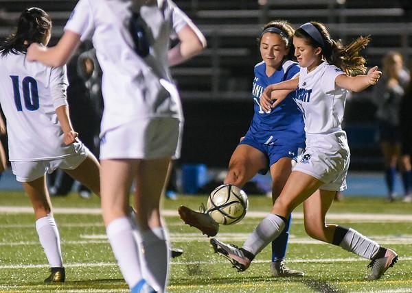 Swampscott at Danvers varsity girls soccer game