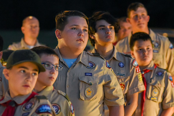 Peabody Boy Scouts 9/11 Remembrance at the First Responders Memorial