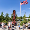 A ceremony in association with Historic Beverly takes place at the Massachusetts Task Force 1 FEMA Urban Search & Rescue headquarters in Beverly in observance of the 20th anniversary of the World Trade Center terror attacks in New York City on September 11, 2001.<br /> <br /> JAIME CAMPOS/Staff photo 9/11/2021