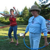 And next it's hula hoops.  Laura & Brenda take a couple of practice spins