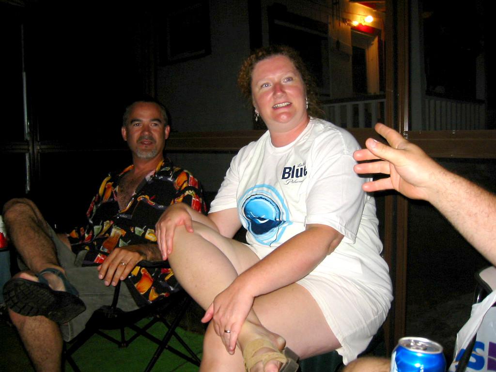 Dale & Kelly enjoy a Donnie moment