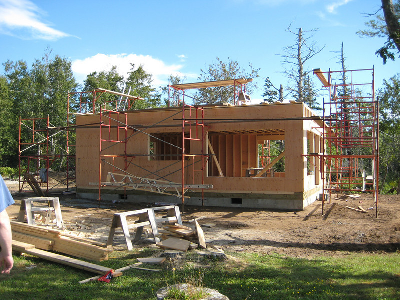 The new bunkhouse under construction