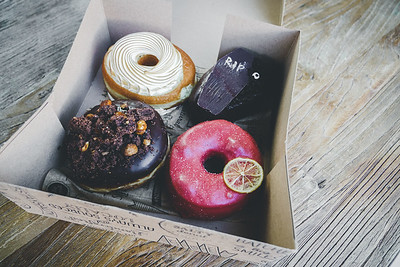 A box of doughnuts